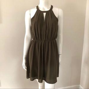 Monteau Olive Green Dress